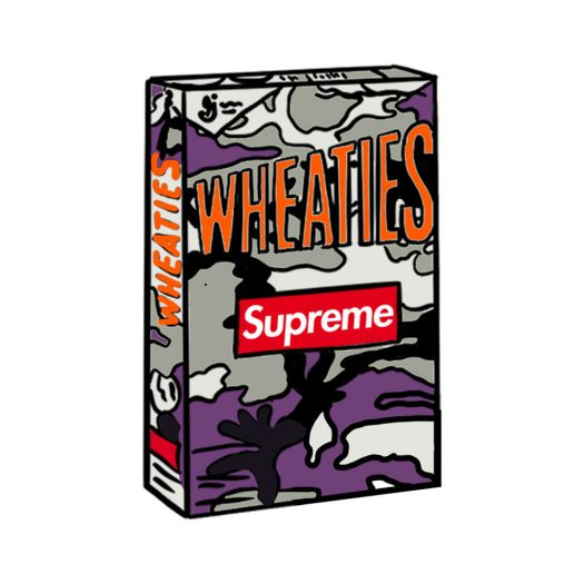 Supreme Wheaties Cereal Box Purple Camo (Not Fit For Human Consumption)