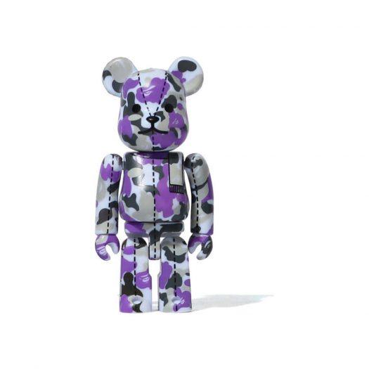 Bearbrick A Bathing Ape 28th Anniversary Camo #1 100% Purple/Grey