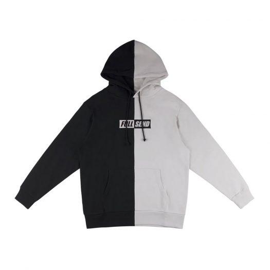 Full Send Split Contrast Hoodie Grey/Black