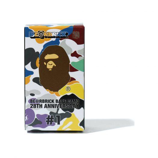 Bearbrick A Bathing Ape 28th Anniversary Camo #1 100% Green/Yellow