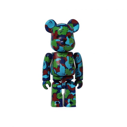 Bearbrick A Bathing Ape 28th Anniversary Camo #1 100% Green/Red/Blue