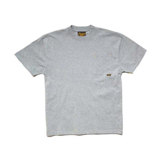 drew house basic ss pocket tee (SS21) heather grey