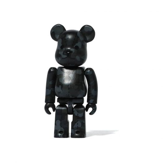 Bearbrick A Bathing Ape 28th Anniversary Camo #1 100% Black/Grey