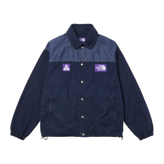 Palace x The North Face Purple Label Indigo Ripstop Coach Jacket Indigo