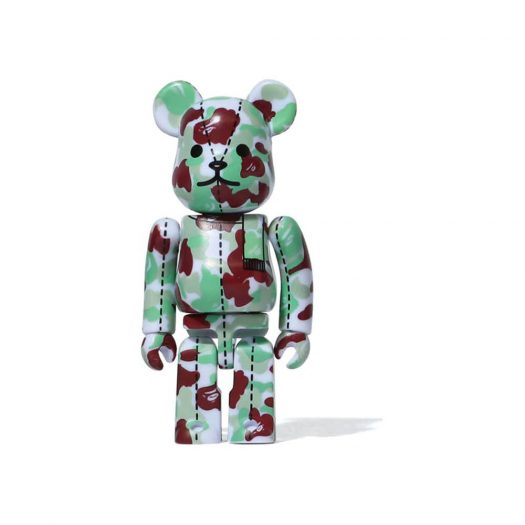 Bearbrick A Bathing Ape 28th Anniversary Camo #1 100% Red/Green