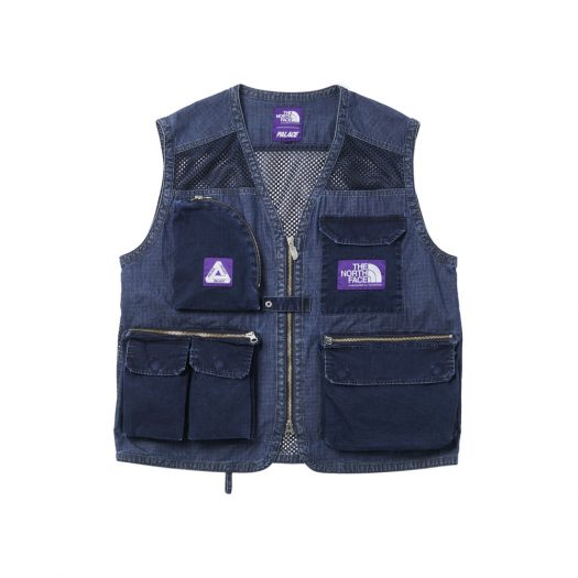 Palace x The North Face Purple Label Indigo Ripstop Mesh Vest Indigo