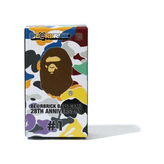 Bearbrick A Bathing Ape 28th Anniversary Camo #1 100% Blue/Red