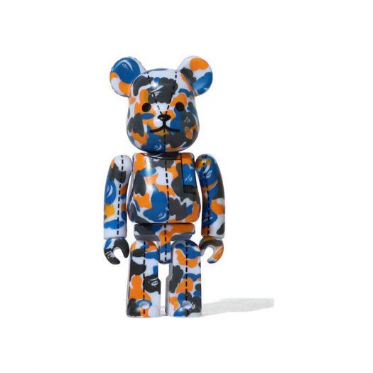 Bearbrick A Bathing Ape 28th Anniversary Camo #1 100% Blue/Orange