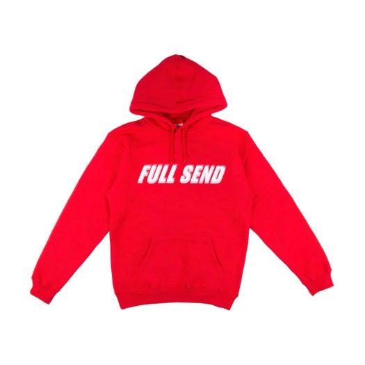Full Send Glitch Hoodie Red