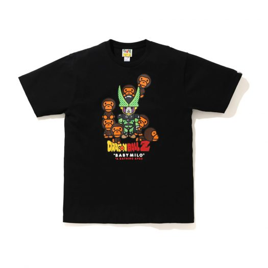 Bape X Dragon Ball Z Baby Milo Cell & Cell Jr Tee Black