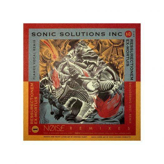 Shepard Fairey Noise Sonic Solutions Inc. Resurrectionem Ex-Mortuis Remix Obey 7″ Vinyl Record