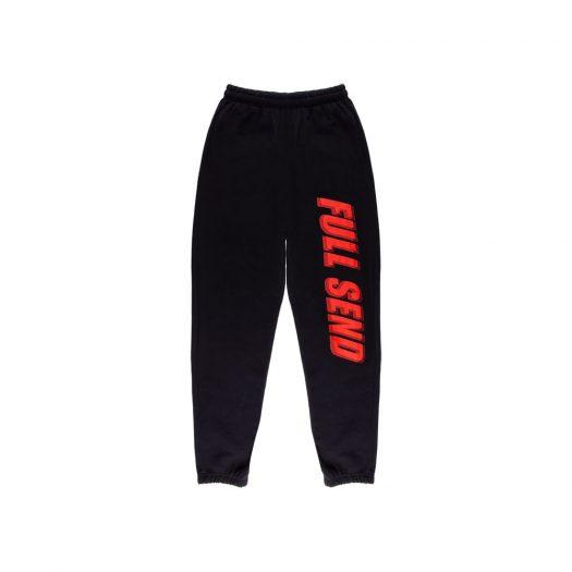 Full Send Glitch Sweatpants Black