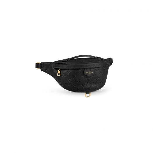 Louis Vuitton Bumbag Monogram Empreinte Noir in Grained Leather with Gold-tone