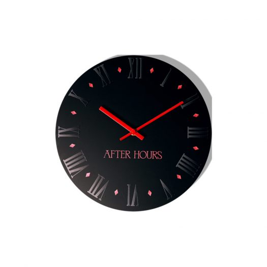 The Weeknd After Hours Wall Clock Black