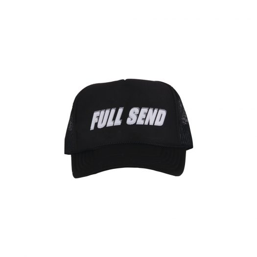 Full Send Glitch Hat Black
