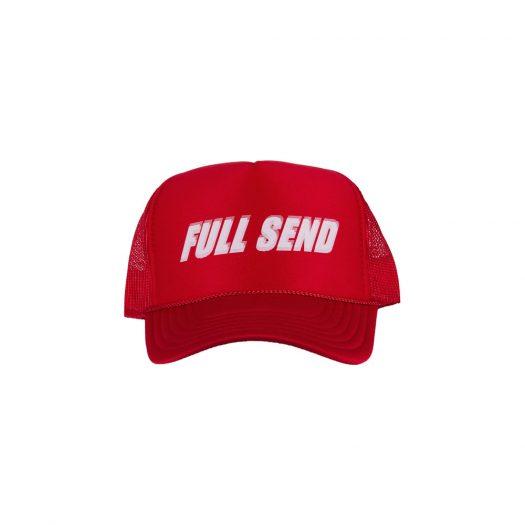 Full Send Glitch Hat Red