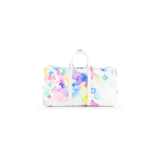 Louis Vuitton Keepall 50 Monogram Watercolor in Canvas with Silver-tone
