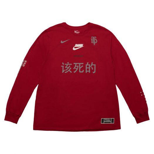 TDE x Nike Swoosh Long Sleeve TDE Red