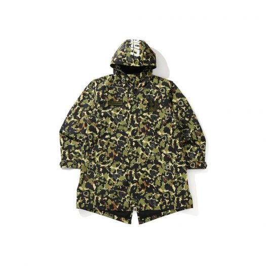 Bape X Unkle Mwa Camo M-51 Hoodie Jacket Green