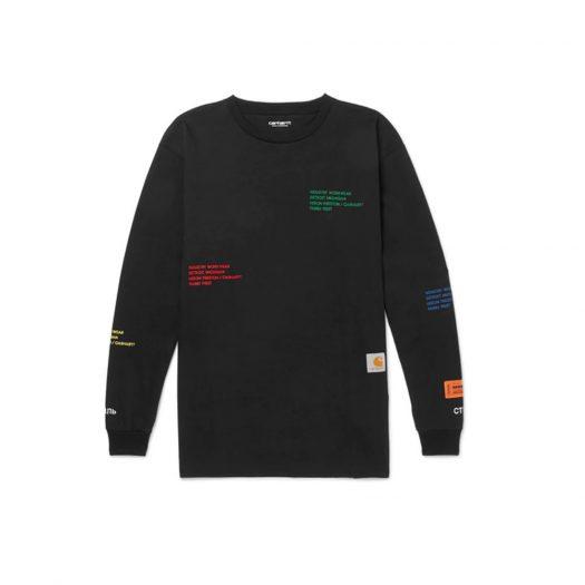Heron Preston x Carhartt Oversized Embroidered L/S T-Shirt Black/Multicolor