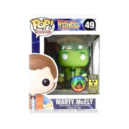 Funko Pop! Movies Back To The Future Marty McFly Plutonium Plastic Empire Exclusive LE 3000 Figure #49
