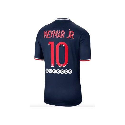 Nike Paris Saint-Germain Home Stadium Shirt 2020-21 with Neymar Jr 10 printing Jersey Blue