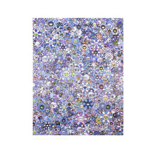 Takashi Murakami Skulls & Flowers Blue Signal Jigsaw Puzzle