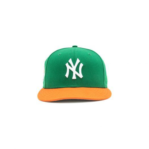 Jae Tips x Hat Club Yankee 5950 Subway Series On Field Fitted Hat Green/Orange