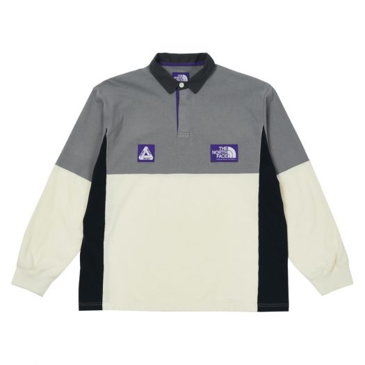 Palace x The North Face Purple Label High Bulky Rugby Shirt Grey