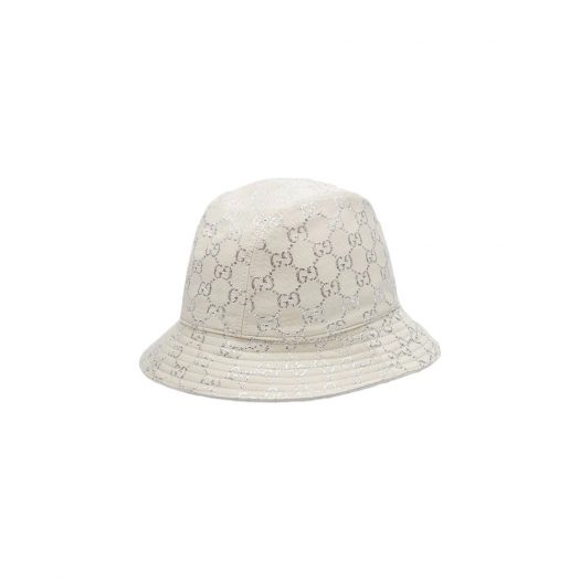 Gucci GG Lame Bucket Hat White/Silver in Lame