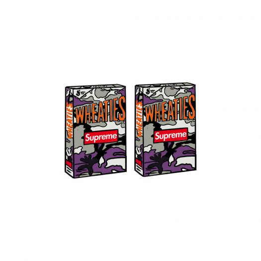 Supreme Wheaties Cereal Box Purple Camo 2x Lot (Not Fit For Human Consumption)