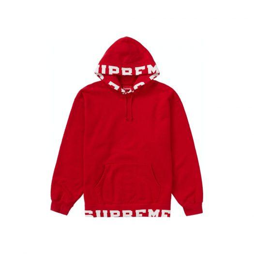 Supreme Cropped Logos Hooded Sweatshirt Red