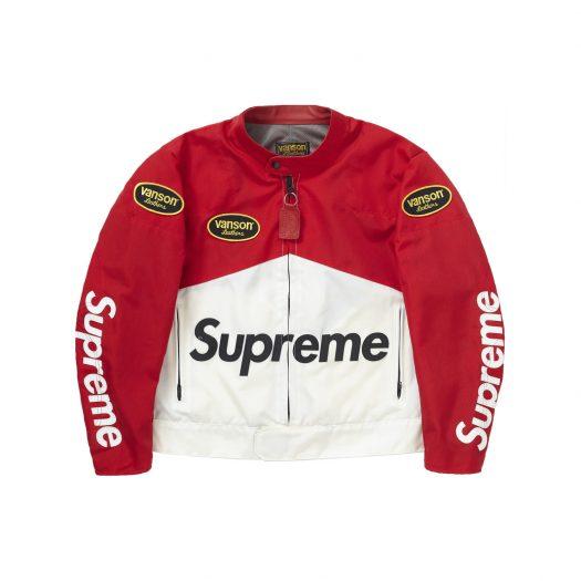 Supreme Vanson Leathers Cordura Jacket Red