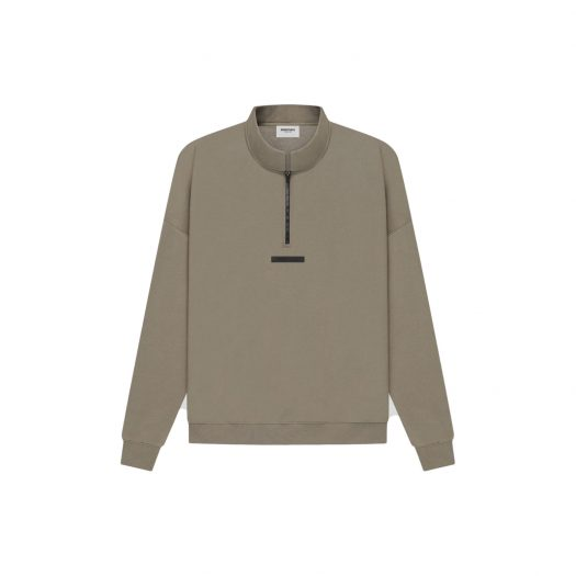 FEAR OF GOD ESSENTIALS Half Zip Sweater Taupe