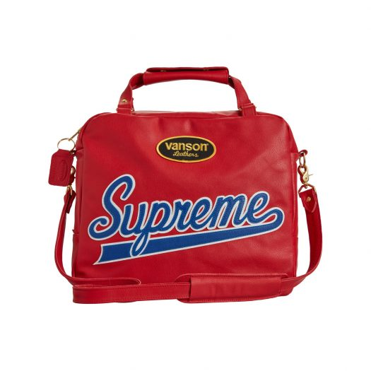 Supreme Vanson Leathers Spider Web Bag Red