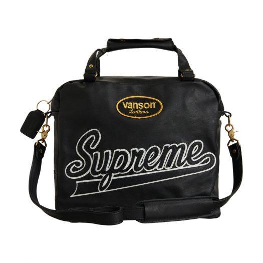 Supreme Vanson Leathers Spider Web Bag Black