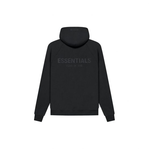 FEAR OF GOD ESSENTIALS Pull-Over Hoodie (SS21) Black/Stretch Limo