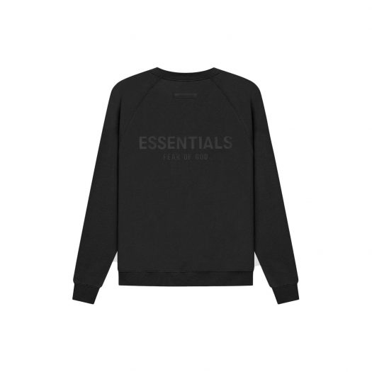 FEAR OF GOD ESSENTIALS Pull-Over Crewneck Black/Stretch Limo