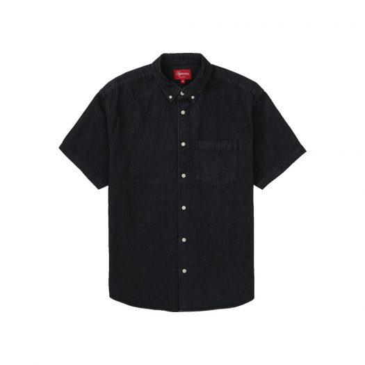 Supreme Embossed Denim S/S Shirt Black