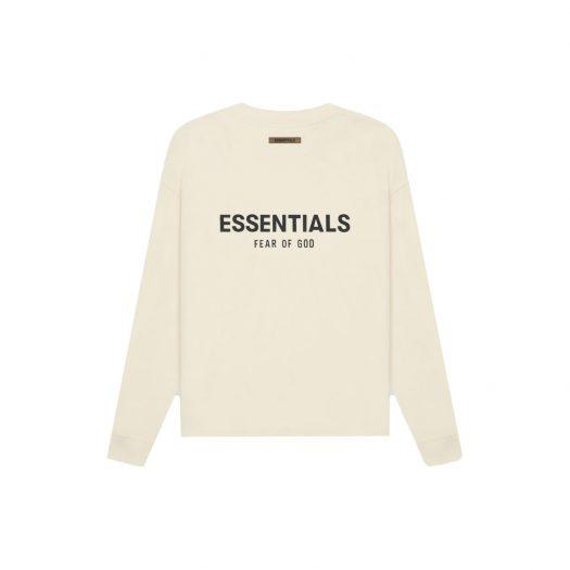 FEAR OF GOD ESSENTIALS Long Sleeve T-shirt Cream/Buttercream