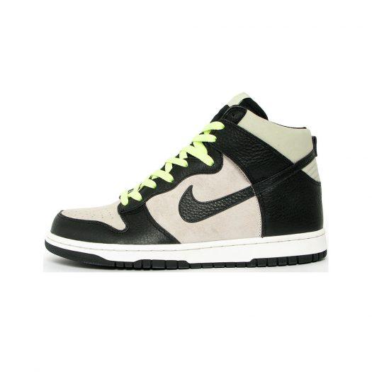 Nike Dunk High Light Bone Black Light Liquid Lime