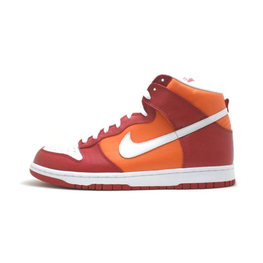 Nike Dunk High Varsity Red Orange Blaze