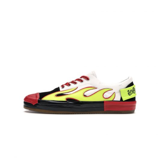 Palm Angels Low Top Multicolored Flame White