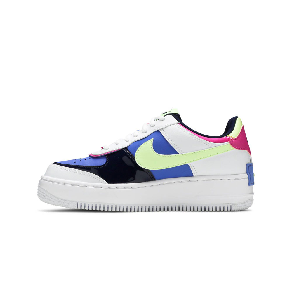 Nike Air Force 1 Shadow White Sapphire Barely Volt (W)