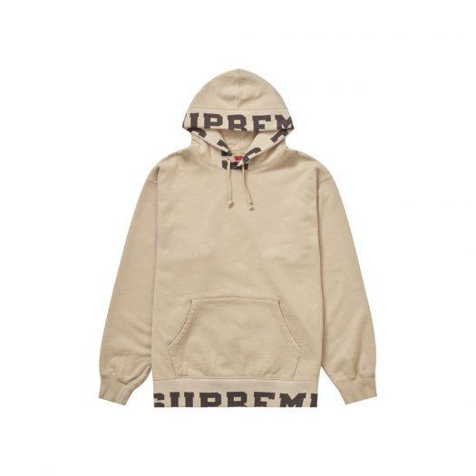 Supreme Cropped Logos Hooded Sweatshirt Tan