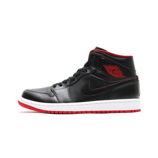 Jordan 1 Retro Mid Black Red White