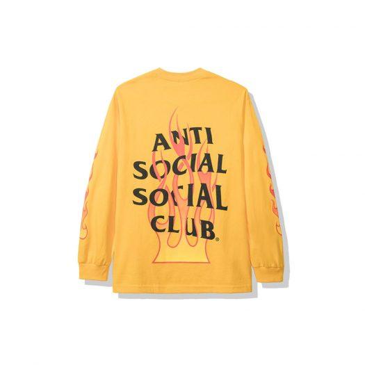 Anti Social Social Club Firebird Long Sleeve Tee (FW19) Yellow