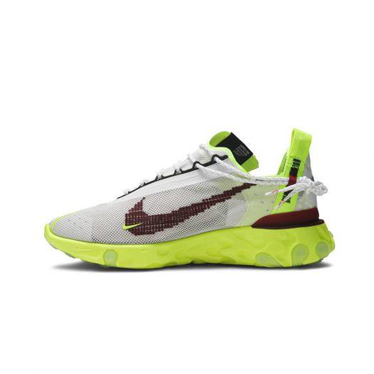 Nike React Runner ISPA Platinum Tint Volt Glow Team Red
