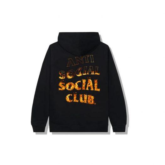 Anti Social Social Club A Fire Inside Flame Hoodie Black