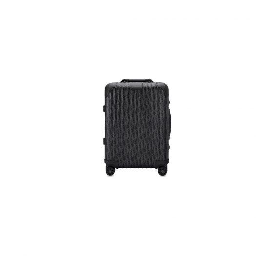 Dior x RIMOWA 4-Wheel Cabin Suitcase Aluminium Dior Oblique Black in Aluminium with Black-tone